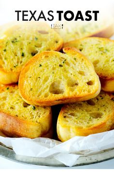 Texas Toast is a homemade cinch with just four ingredients in less than 15 minutes. It's pillowy soft on the inside, buttery, garlicky, and crunchy on the outside. Serve it as an appetizer or alongside just about any comfort food meal or pasta dinner. Texas Toast Garlic Bread, Potluck Recipes, Side Dish Recipes, Appetizer Recipes, All You Need Is, Yeast Bread Recipes, Side Dishes For Bbq, Best Appetizers