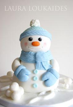 "Tinsel the Snowman - My little Christmas creation... ""Tinsel the Snowman"""