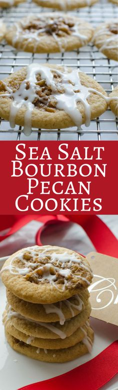 Sea Salt Bourbon Pecan Cookies | Garlic & Zest