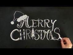 クリスマスにチョークレタリング!大人黒板の描き方(chalkart:christmas:diy)