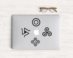 Teen wolf symbol Sticker Vinyl Decal for MacBook by Pattynapit