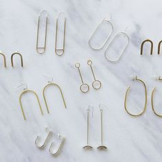Ellen Mote Jewelry - Minimalist Earrings Jewelry // EM Jewelry+Design You are in the right place about diy crafts Here w - Jewelry For Her, Fine Jewelry, Women Jewelry, Fashion Jewelry, Jewelry Ads, Jewellery, Minimal Jewelry, Simple Jewelry, Vintage Jewelry