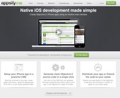 http://appsify.me Native iOS development made simple. Create Objective-C iPhone apps using an intuitive web interface.