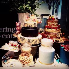My cakes at the bridal expo