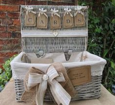 Wedding Card Holder Wicker Hamper Post Box