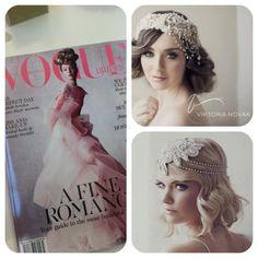 As featured in Vogue Brides 2013 | Exclusive Viktoria Novak headpieces | www.viktorianovak.com.au