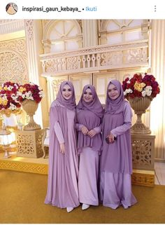 Abaya Fashion, Muslim Fashion, Fashion Dresses, Hijab Style Dress, Casual Hijab Outfit, Kebaya Muslim, Muslim Dress, Wedding Abaya, Kebaya Dress