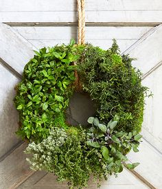 Learn how to create this Summer  Herb Wreath https://www.onekingslane