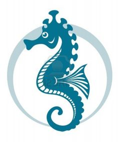 Blue Seahorse Symbol With Circle Shape. Vector Illustration Royalty Free Cliparts, Vectors, And Stock Illustration. Image 12480212.