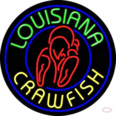 Louisiana Crawfish Real Neon Glass Tube Neon Sign,Affordable and durable,Made in USA,if you want to get it ,please click the visit button or go to my website,you can get everything neon from us. based in CA USA, free shipping and 1 year warranty , 24/7 service Neon Food, Louisiana Crawfish, Handmade Art, Neon Signs, Diy Crafts, Free Shipping, Tube, Glass, Delivery