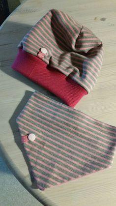 Babymütze und Halstuch zum Wenden