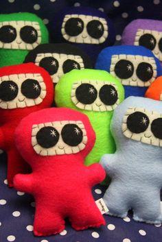 Custom Happy Ninja  EcoFriendly Felt Plush Ninja  by Needlings, $12.00