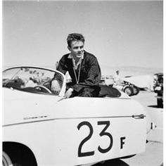 """A fantastic and rare find for James Dean collectors. From the personal collection of Gus V. Vignolle, well known journalist, photographer and publisher of """"MotoRacing"""", one of the first and most influential car racing newspapers of the 1950's. This is one in a limited series of negatives that have been missing for over 50 years until recently re-discovered by Vignolle's daughter, Zaz Clark."""