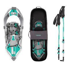 Yukon Charlie's Women's Advanced Series Snowshoe Adventure Kit - 8 x 25 - Aqua