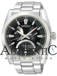 Seiko SPB013 Watch Ananta Mens - Black Dial