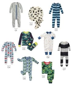 little style || pajamas for boys