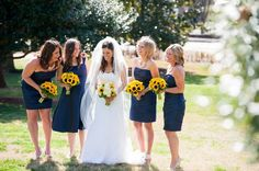 These sunflower wedding bouquets and centerpiece details will fit right in with your summery, traditional affair.