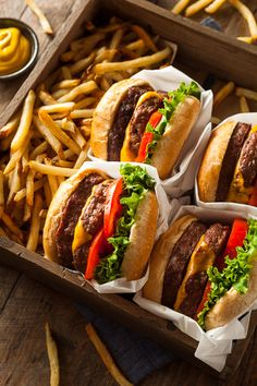 オッさんのTumblr. — brenthofacker: Hamburgers and Fries Nom Nom...
