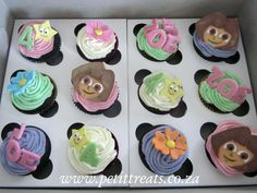 Dora The Explorer themed cup cakes