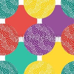 Colorful Spiral Baubles designed by Irina Arnautu available on patterndesigns.com
