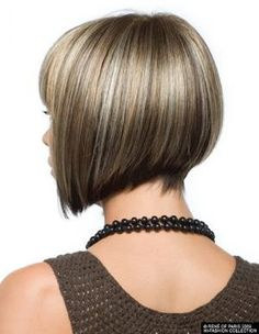 Sharp, asymmetrical angled bob -  Love this cut!