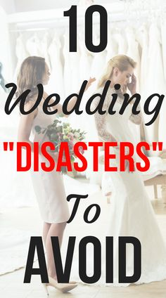 """10 Wedding """"Disasters"""" That Really Aren't: Bad Bridesmaids, Bad Weather & More! Find out how to deal with wedding """"disasters"""" on SHEfinds.com."""