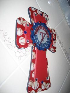 Wall Cross for the Texas Ranger Fan by cthorses66 on Etsy, $35.00