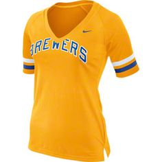 Milwaukee Brewers MLB Nike Women's Gold Cooperstown Fan T-Shirt $33.99 http://www.fansedge.com/Milwaukee-Brewers-MLB-Nike-Womens-Gold-Cooperstown-Fan-T-Shirt-_78881403_PD.html?social=pinterest_pfid66-54265