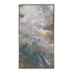 Uttermost 31412 Neutral Storm / Champagne Frame Roaring Thunder 28 Inch x 49 Inch Framed Abstract Painting on Canvas by Constance Lael-Linyard