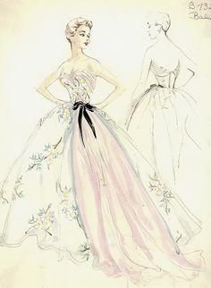 Balmain Evening Gown 1950s