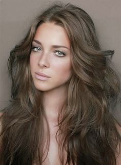 Medium ash brown natural hair color for cool skintones