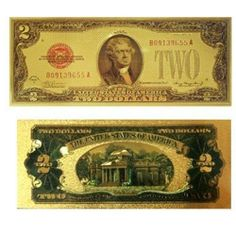 2 Doller Lucky Gold Money Gift