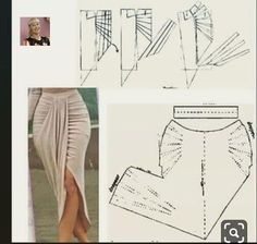 Diy Clothes Life Hacks, Diy Clothes And Shoes, Skirt Patterns Sewing, Clothing Patterns, Fashion Sewing, Diy Fashion, Couture Sewing Techniques, Pattern Draping, Sleeves Designs For Dresses
