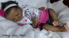 """Realborn """"Sleeping Presley"""" reborn baby girl-AA/ethnic skintone-Lullaby Lane"""