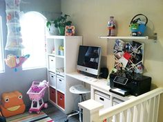 This townhouse only had two bedrooms, and desperately needed a dedicated workspace & playspace. Angie was struck with inspiration  -- why not build a loft?