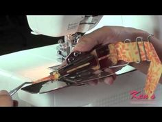 How to use the Janome Coverpro Binder Attachment
