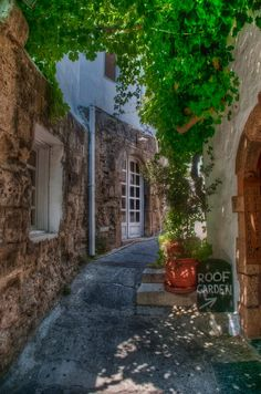 Lindos Street by Fraser Ross
