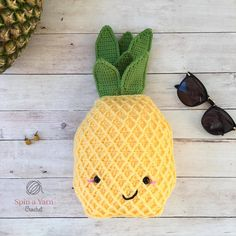 Pineapple Plushie - Free Crochet Pattern at Spin a Yarn Crochet.