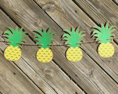 Pineapple Banner Pineapple Party Decor by MagnoliaBloomBtq