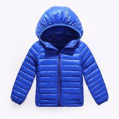 2-14Y Ultra light baby Girls boys down jacket 90% duck down coat winter warm children clothes with hooded and pocket  EUR 10.53  Meer informatie  http://naaar.nl/2nKUuV5 #aliexpress