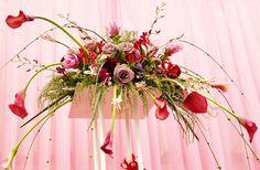 Beautiful pink lily arrangment
