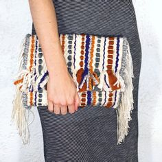 Woven boho clutch by WillowBrookeDesign on Etsy
