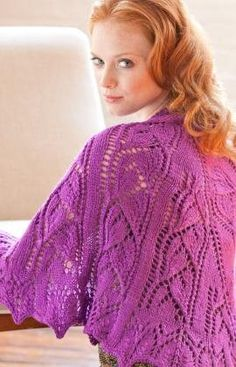Beloved Shawl Knitting Pattern from Red Heart. This girlie wrap features the Drooping Daylily lace pattern; a perfect way to show off your lace knitting skills. The shawl drapes beautifully and stays put without pinning. All Free Knitting, Lace Knitting, Knitting Patterns Free, Free Pattern, Knitting Needles, Shawl Patterns, Lace Patterns, Crochet Patterns, Knit Or Crochet