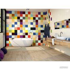 Rainbow tile for bathroom