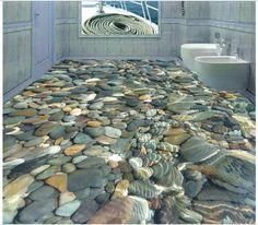 Personalizzato 3d foto 3d wallpaper piano pittura carta da parati 3 d acqua cobble pavimento di piastrelle decorazione 3 d living room decoration in da Carte da parati su AliExpress.com | Gruppo Alibaba