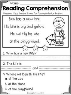 FREE Spring Reading Comprehension - Beginning Readers You are in the right place about Reading Comprehension autism Here we offer you the most beautiful pictures about the Reading Comprehension quotes First Grade Reading Comprehension, Reading Comprehension Worksheets, Reading Fluency, Reading Passages, Reading Strategies, Reading Skills, Teaching Reading, Reading Response, Comprehension Strategies