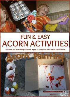 FUN & EASY Acorn Activities for kids: teach math, craft, and reading with acorns