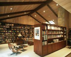 books library interior design interiors design ceiling herman miller wooden bookshelves bookcase reading study