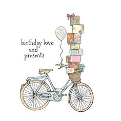 drawings of sketches Bicycle Illustration, Illustration Art, Make Your Own Card, Bicycle Art, Pencil And Paper, Birthday Love, Happy B Day, Illustrations, Art Images