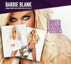 """KELLY KELLY Barbie Blank Limited Edition Poster 22""""x28"""" Full Color & Hand Signed  http://r.ebay.com/2JdXdq"""